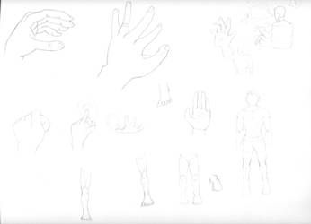 Hand and leg practice by Gemrix