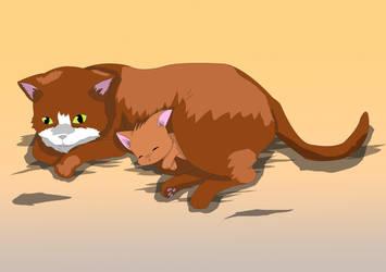 Ginger Cats Anime by enchantedbluedragon