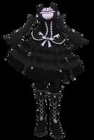 [MMD DL] Gothic Loli by Nuigurumi666