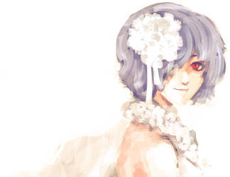 Woman in White (Touka) by sapphire22crown
