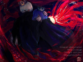 [ KING and QUEEN ] Touka x Kaneki by sapphire22crown