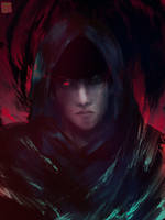[ ONE EYED DARK KNIGHT ] Amon Koutarou by sapphire22crown