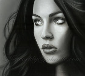 Megan Fox Drawing by GabrielleBrickey