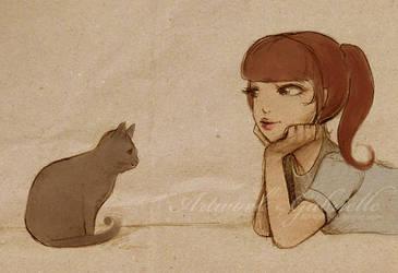 Cat by GabrielleBrickey