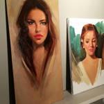 Paintings in Progress by GabrielleBrickey