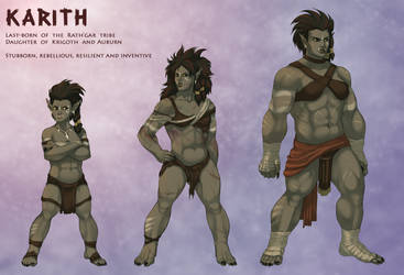 Character sheets: Karith by SavageDeity