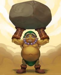 Goron Link by SavageDeity