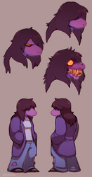 Deltarune: Susie by SavageDeity