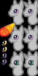 Pony Headshot Template by gelertyfun4every1