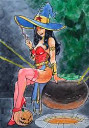 Witch Wonder Woman by jvsJuanVargas