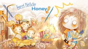 birthday greetingcard by 4leafcloverVN