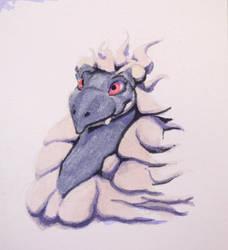 #496 - Woolly Dragon Portrait by RodentNomNom