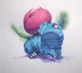 #497 - 002 Ivysaur by RodentNomNom