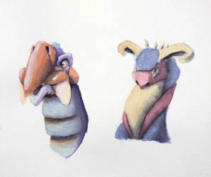 #510 - Creature Portraits by RodentNomNom