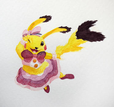 #567 - Pikachu Pop Star by RodentNomNom