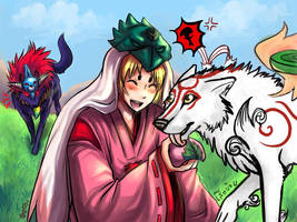 Okami Collab with Zero-Zand by SueaNoi
