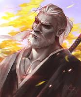 Samurai Geralt by allixdoodles
