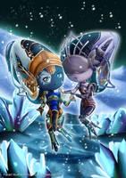 Cute Ice Eidolons by nerrochan
