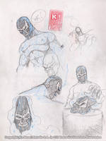 BLUE DEMON JR Studies. 8 by Galtharllin