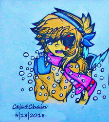 .:*~`Humixels: Teslo and a crystal snowflake`~*:. by Ceja4Chain