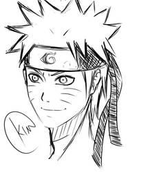 Uzumaki Naruto sketch by kurokim97