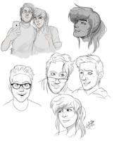 YouTuber doodles by SydneyitsSydneyYo