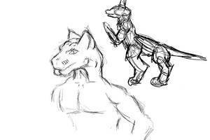 Roalark - Master Race - Sketch by Jarndahusky