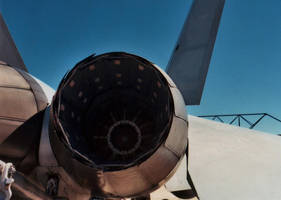 F/A-18 In the Exhaust Ports by Jarndahusky
