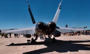 F/A-18 Rear by Jarndahusky