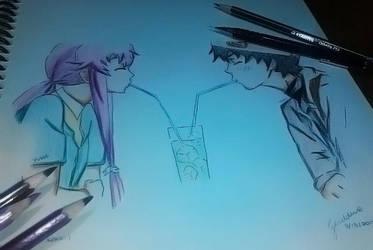Mirai Nikki: Yuno and Yuki by denpotato