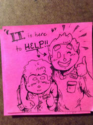 PinkStickyNote! IT Support by Alicia-Imagination