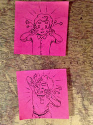 PinkStickyNote! Quick, Strike a Pose by Alicia-Imagination