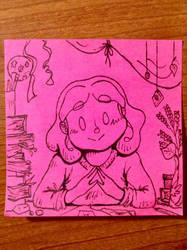 PinkStickyNote! My Lovely Desk by Alicia-Imagination