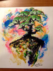 Tree on a Cliff by Alicia-Imagination