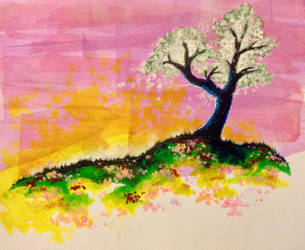 Tree on a Hill by Alicia-Imagination