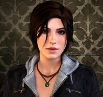 Lara Croft Render by Kunoichi-Supai