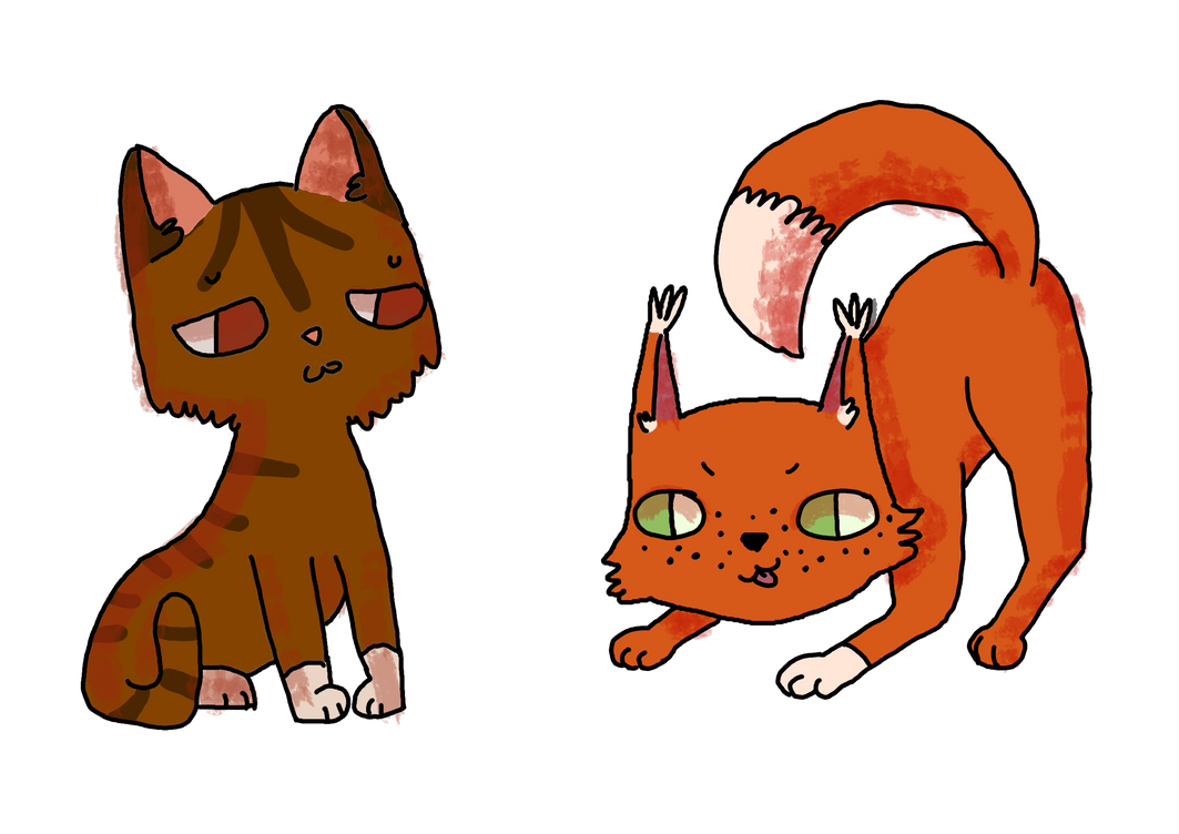 Leafpaw and Squirrelpaw by vasilisaart12390