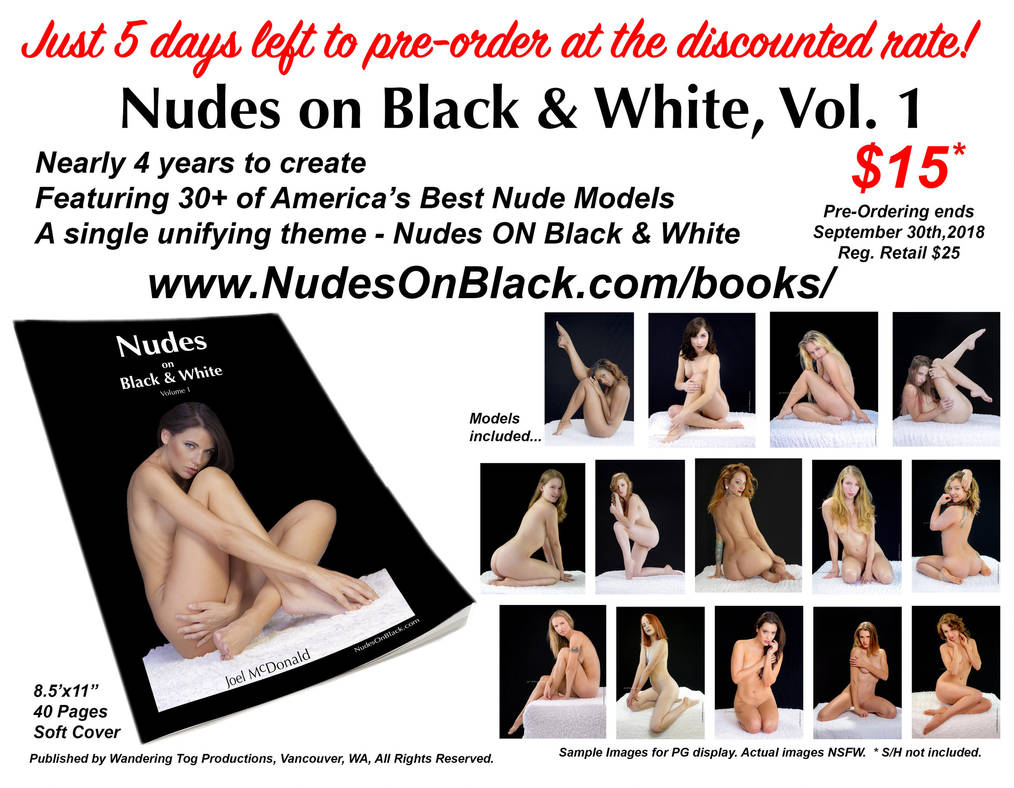 Nudes on Black and White, Vol 1 - Pre-Sale offer by JoelMcDonald