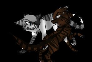 Hawkfrost VS Ivypool by Cattypasta