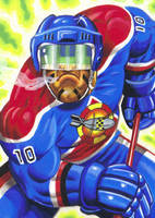 SHOCK HOCKEY CARD ART FOR TARGET GAMES SWEDEN by Johnny-Retro65