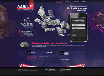 Mobil.im web design by feartox