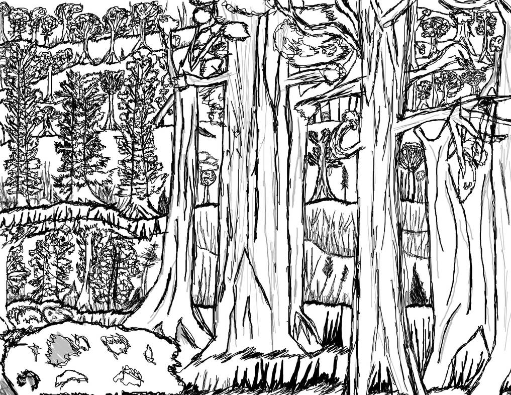 Inktober 10-31-2018 Its justa forest by FriezaReturns00001