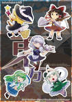 [Sample] Touhou sticker #1 by tinkatiranor