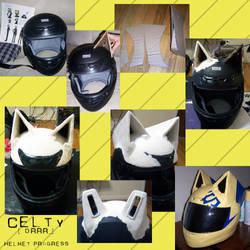Celty + DRRR + Helmet Progress by 2sadsexually