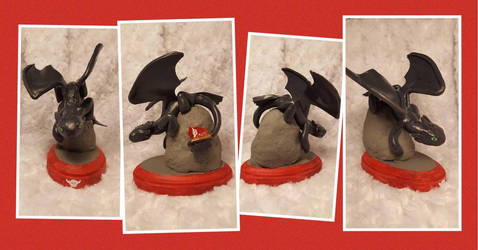 Toothless Sculpture by chipperpony
