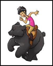 Dom Bear by EatsNoCheese