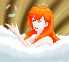Misty's Bubble Bath by adrianarzola