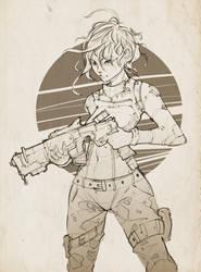 Girl gun by InkyTophat