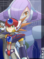 MMX8:AXL and LUMINE by RokusukeTanaka