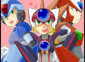 MMX:Three hunters by RokusukeTanaka